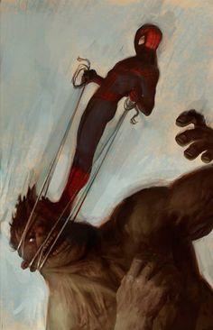 Spider Man vs the Hulk  - Daniel Clarke