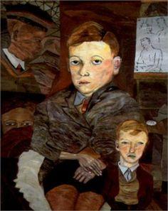 The Village Boys - Lucian Freud (British: 1922- 2011)
