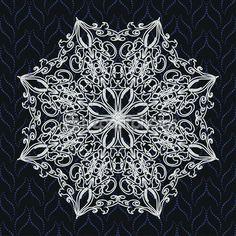 Mandaly, kulatý vzor — Stock Illustration #80906020