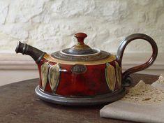 Ceramic Tea Sets, Tea-pot, Ceramics, Hand Painted Coffee Pot, Colorful Ceramic Teapot, Wheel Thrown Pottery  Capacity - 800ml/26 oz Measuring