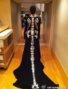 Skeleton Dress. Anyone know the original source? OMG no words to describe how much I love this dress.