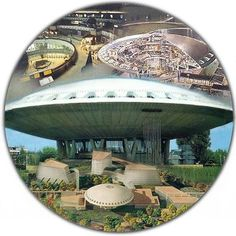 "The building's name was Evoluon and was located in the city of Eindhoven in the Netherlands. It housed a ""Logan's Run"" type public exhibit of the wonders of technology."