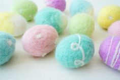 Pastel Felted Eggs