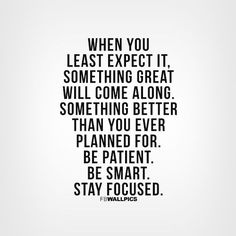 Be patient... Good reminder while I'm unemployed and job searching... www.resumeshoppe.com