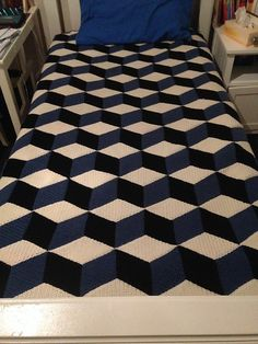 Ravelry: Vasarely Blanket Pattern by Mrs Purple