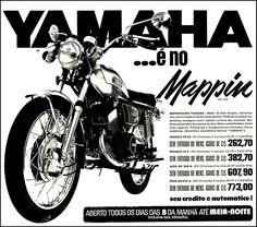 Anúncio moto Yamaha -  Mappin - 1974
