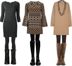 12b0bc661d78 How to style a short dress with leggings when you re short and curvy. Tips  on how to wear leggings with dresses without looking too young or frumpy.