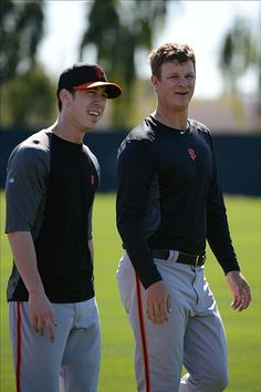 Tim and Matty, spring training 2013