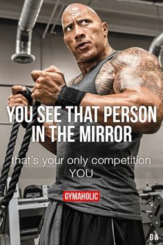 "gymaaholic: "" You See That Person In The Mirror That's your only competition. You! http://www.gymaholic.co """
