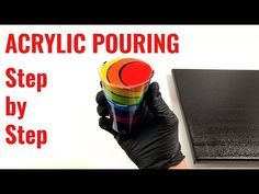 Acrylic pouring for beginners – Step by Step – Chakra colors Acrylic Pouring Techniques, Acrylic Pouring Art, Acrylic Art, One Stroke Painting, Diy Painting, Pour Painting, Chakra Colors, Cast Acrylic, Fluid Acrylics