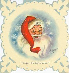 Snowflake Santa Claus 5 Rust Craft M. White Christmas Trees, Christmas Past, Blue Christmas, Retro Christmas, Christmas Mantles, Victorian Christmas, Father Christmas, Christmas Stuff, Christmas Decor
