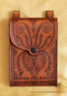 Leather Documents purse BugZz by I-TAVARON-I.deviantart.com on @deviantART