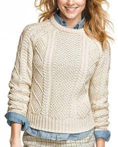 L.L. Bean Cotton Fisherman Sweater