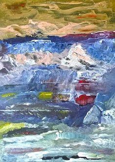 Abstract, schilderij van Irene van Uxem | Abstract | Modern | Kunst