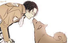 Isayama did say Levi likes dogs. by peanut
