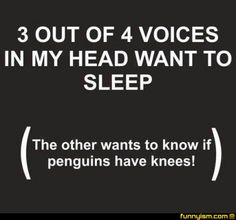 Do penguins have knees, though? This question has caused me to stay up all night before. Seriously. Haha