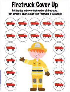 Speechie Freebies: Firetruck Cover Up! Freebie Printable Activity Targets Any Skill! Pinned by SOS Inc. Resources. Follow all our boards at pinterest.com/sostherapy/ for therapy resources.