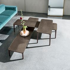 Discover the preciousness of Materia tops for the Slim coffee table collection. Different heights and materials combinations for any living #interior. #homedecor #decoration #design Furniture Styles, Large Furniture, Cool Furniture, Furniture Design, E Piano, Luxury Furniture Brands, Living Area, Dining Bench, Slim