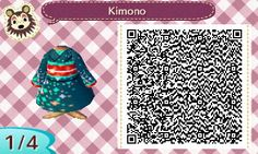 Japanese Houmongi Kimono | QRCrossing.com