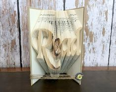 Folded Book Art Folded Books Stamped Books by TrestleGlenTreasures