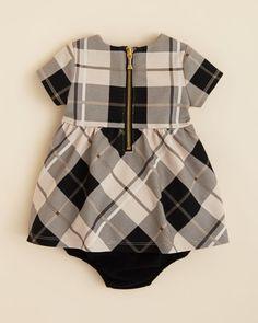 Kate Spade new york Infant Girls' Plaid Dress & Bloomers Set - Sizes 6-24 Months
