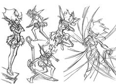 "Yoh Yoshinari concept art from the section ""Create the Kamui."""