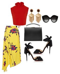 """""""Summer breeze"""" by tjwstyleconsultant on Polyvore featuring Proenza Schouler, SemSem, Christian Louboutin, Vince Camuto, Marni and Gucci"""