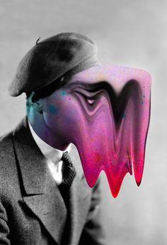 Tyler Spangler's Spooky Neon Portrait RemixesTyler Spangler's digital collages rehash old portraits to uncanny effect. Digital Collage, Collage Art, Digital Art, Photography Editing, Art Photography, Collages, Tyler Spangler, Web Design, Graphic Design