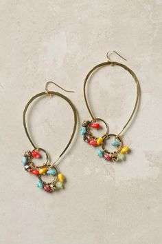 Anthropologie Jellybean Hoops: metal, glass, acrylic (6.3x3.8cm) €28.00