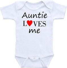 Personalized my aunt loves me onesie gerber onesie bodysuit cute items similar to aunt loves me auntie loves me onesie brand gerber onesie bodysuit cute baby shower gift baby shirt on etsy negle Gallery