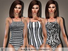 COOOL BLACK & WHITE SWIMSIUTS by Black Lily a FEATURED ARTIST in TSR! NICE! Click on name and see more items!