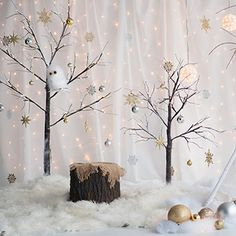 Winter Wonderland 8x8 set Christmas custom set white trees clouds