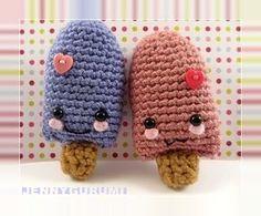 Popsicle free crochet pattern by blogger Jennygurumi ༺✿ƬⱤღ  http://www.pinterest.com/teretegui/✿༻