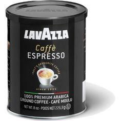 LavAzza Caffè Espresso Ground Coffee, 8-Ounce Can - http://teacoffeestore.com/lavazza-caffe-espresso-ground-coffee-8-ounce-can/