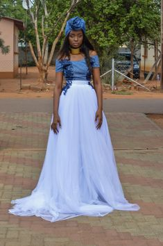 #Shweshwe #germanprint #weddingdress #africanweddingdress