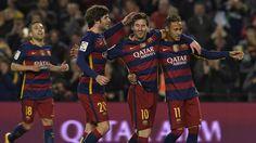 4 buts de Suarez et 3 de Messi : le Barça s'offre une démonstration de puissance - Copa del Rey 2015-2016 - Football - Eurosport