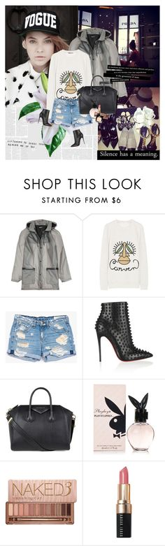 """""""Barbara Palvin"""" by rainie-minnie ❤ liked on Polyvore featuring DKNY, Carven, rag & bone/JEAN, Christian Louboutin, Givenchy, Urban Decay, Bobbi Brown Cosmetics and Chanel"""