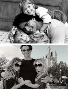 Uncle Jesse and Olsen Twins. This picture makes me feel nostalgic and old at the same time...lol