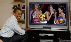 Ariadna Gutierrez Miss Colombia, Paulina Vega Miss Universe 2014 and Pia Wurtzbach Miss Philippines watch live Obama