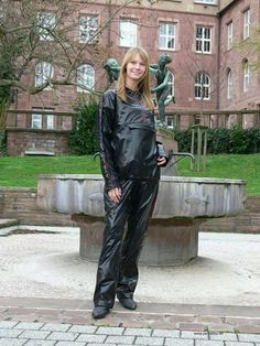Black rainsuit