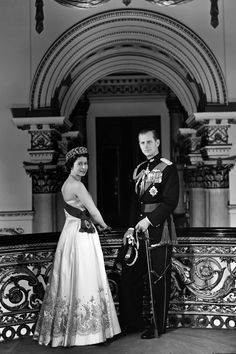 A portrait of the Queen & the Duke of Edinburgh in 1958