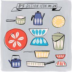 Design*Sponge Design Icon:  Cathrineholm Lotus Enamelware #catherineholm #sweden #swedish #midcentury #tableware #pot #pan #bowl #scandinavian #catherine #design #designicon #kitchen #designsponge