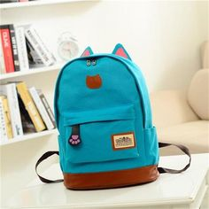 Cheap canvas backpack, Buy Quality cat backpack directly from China backpack for teenagers Suppliers: Hot 2017 Vintage Women Canvas Backpacks for Teenage Girls School Bags Cartoon Cat Backpack Female Travel Bag mochila rucksack Cat Backpack, Backpack For Teens, Ladies Backpack, Messenger Backpack, Travel Backpack, Girl Backpacks, School Backpacks, Canvas Backpacks, Fashion Bags