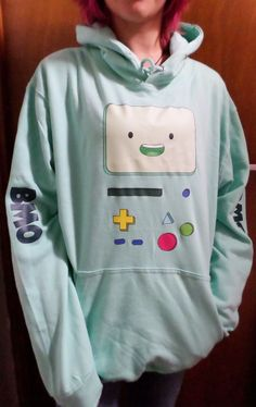 BMO Beemo Adventure Time Men's hoodie sizes S-XXL in Clothes, Shoes & Accessories, Men's Clothing, Hoodies & Sweats | eBay