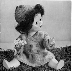 Vintage Doll Clothes Knitting Pattern 4ply by LoveFromNewZealand