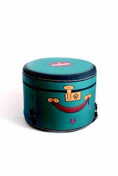 round hat case inspired travel bag