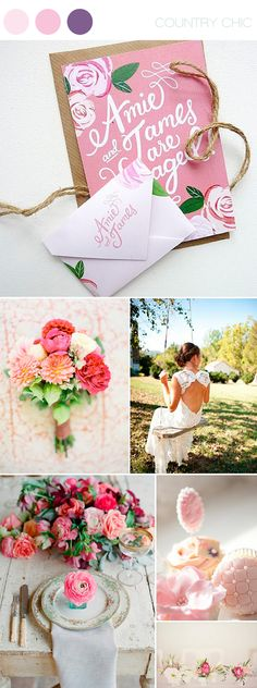 country chic ~ coral, plum & pink