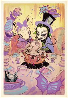 Alice in Wonderland by Camille Rose Garcia