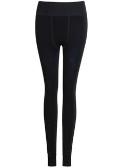Navy Slim Flocked Legging - Sheinside.com