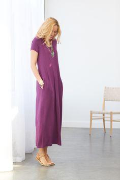 cba88b5d3bb Maxi-mum comfort (featuring J.Jill s Seamed Knit Maxi Dress) Long Maxi